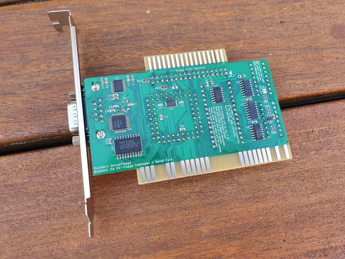 DeluxeFloppy - 8-bit ISA Bootable HD Floppy + Serial