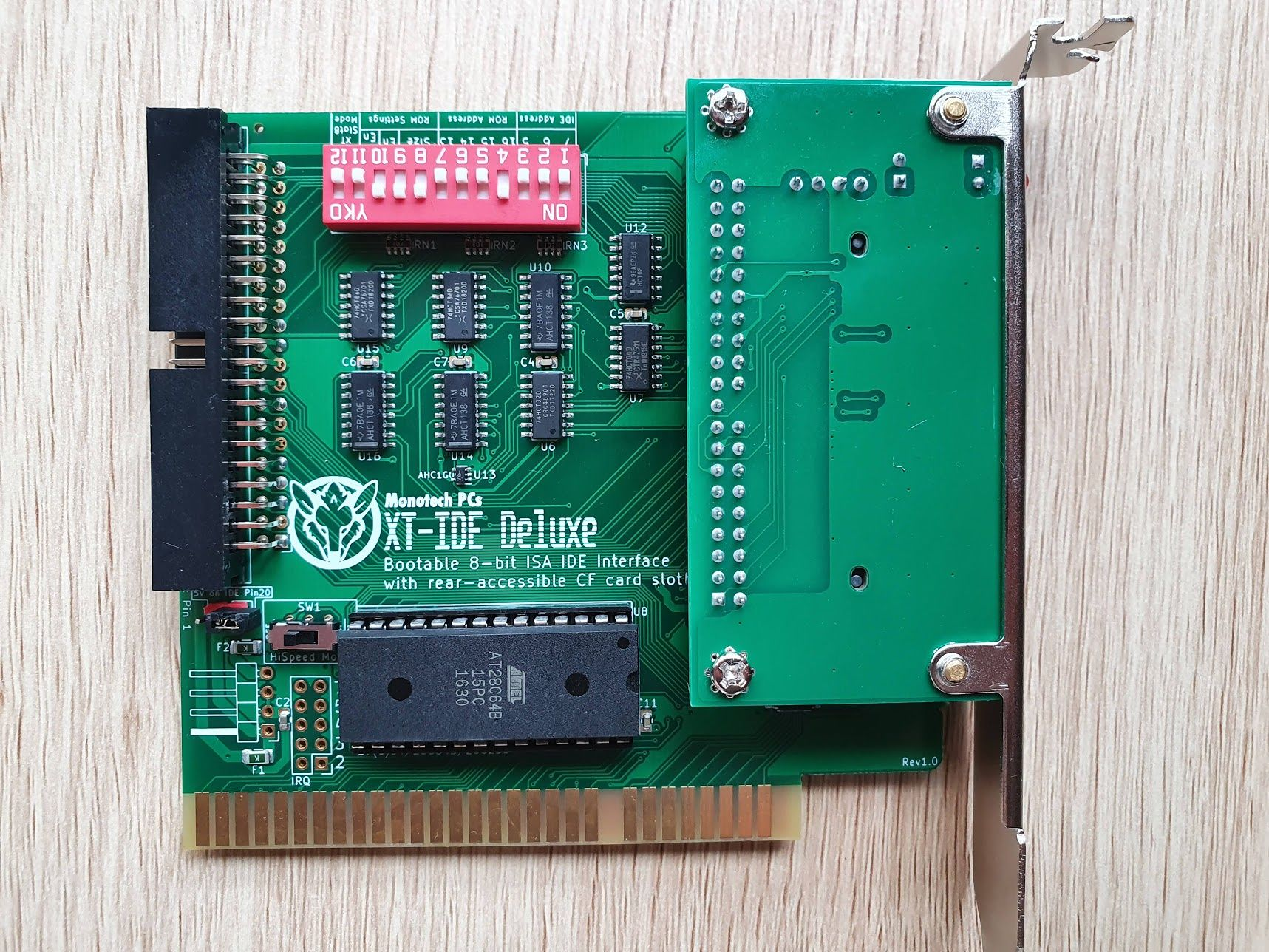 XT-IDE Deluxe - Bootable ISA CF+IDE Interface Card
