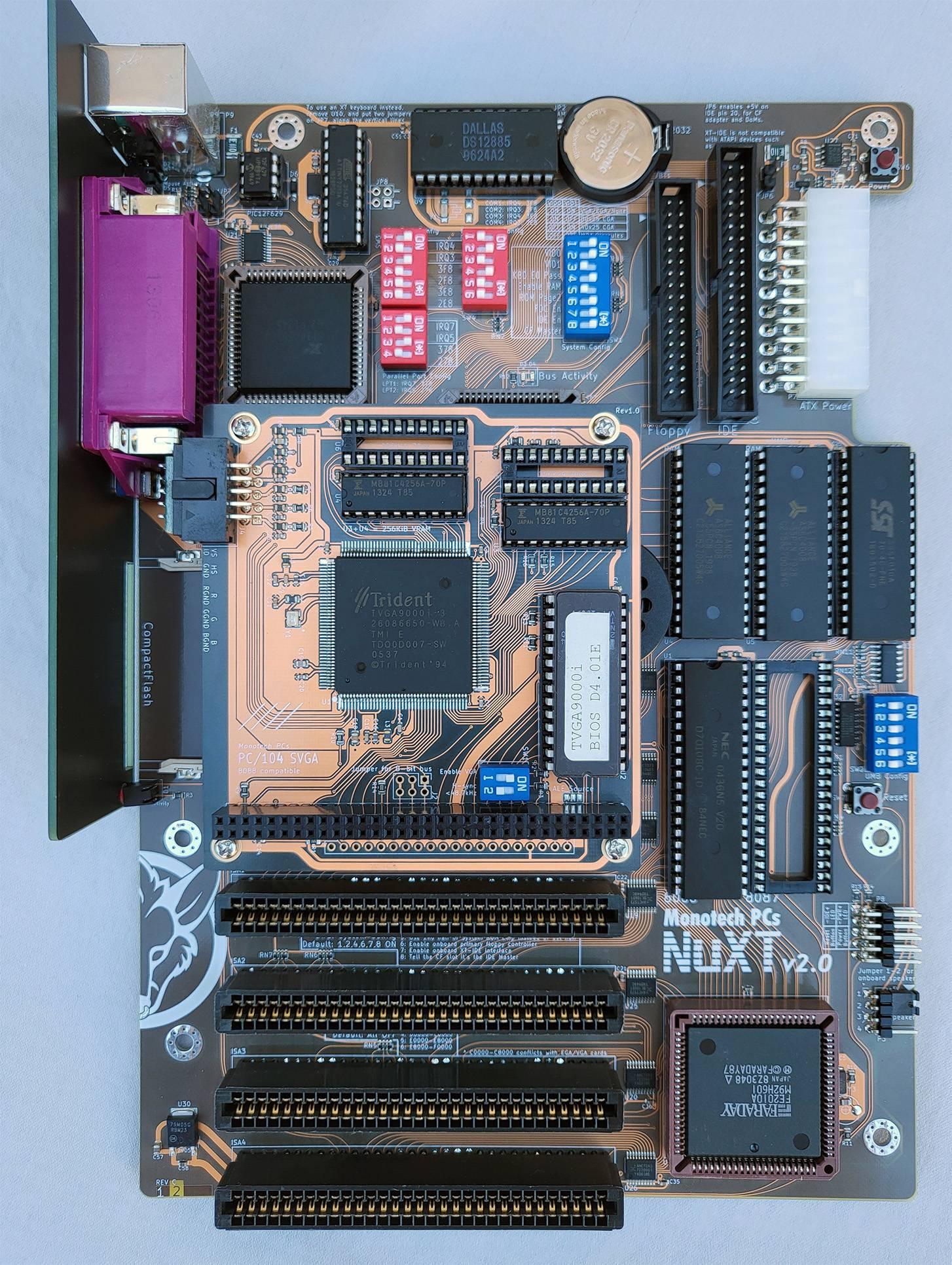NuXT v2.0 - MicroATX Turbo XT - 10MHz, 832K, XT-IDE, Multi-IO, SVGA