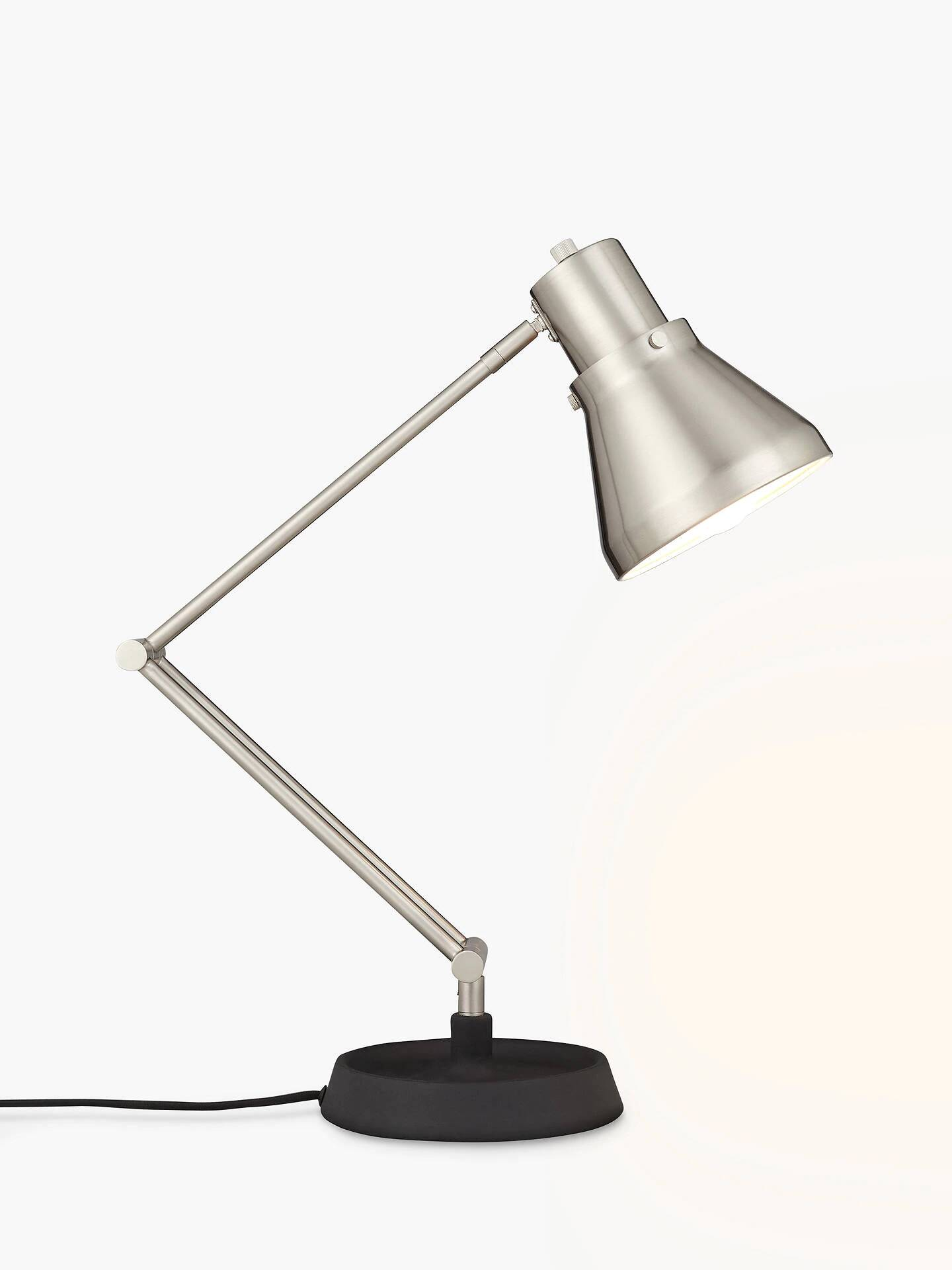 Trent Task Lamp, Brushed Steel