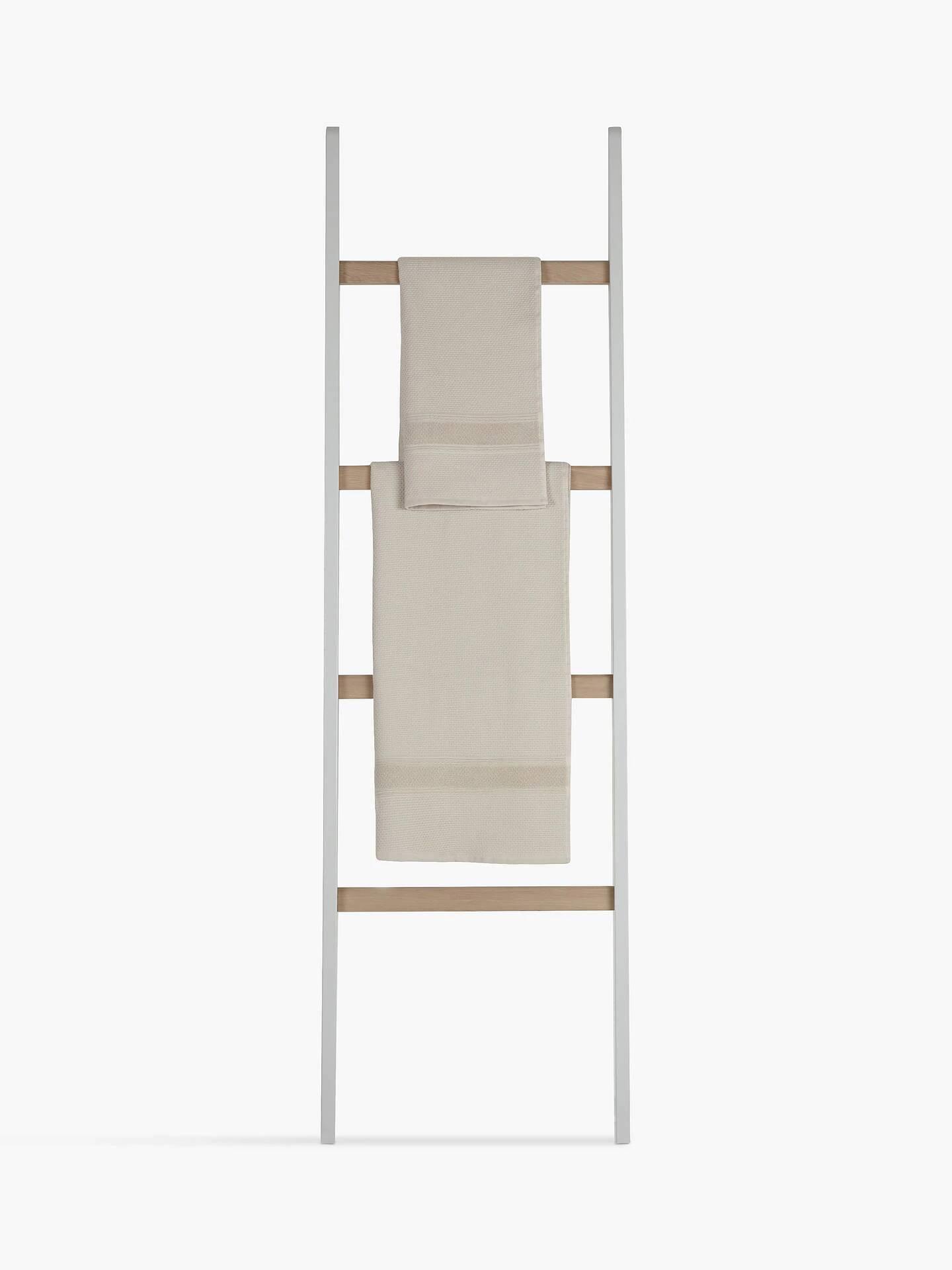 Light Silver Croft Collection Blakeney Leaning Shelf Ladder