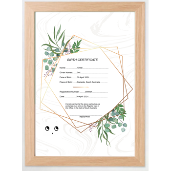 Oni Birth Certificate -..