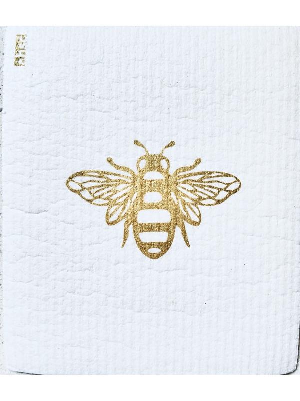 Bee Dishcloth on white