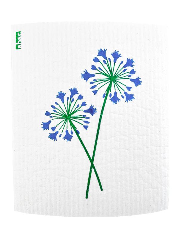 Blue Agapanthus Dishcloth