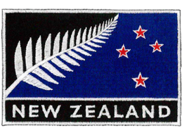 D | SILVER FERN FLAG PATCH