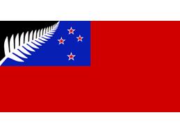 H | RED SILVER FERN FLAG
