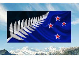 A | LARGE PREMIUM SILVER FERN FLAG (SIGNED)