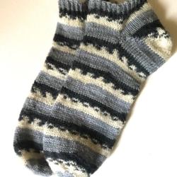 Fair Isle Grey Print Ankle Sock