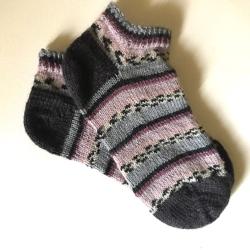 Fair Isle Pink Printed Ankle Sock
