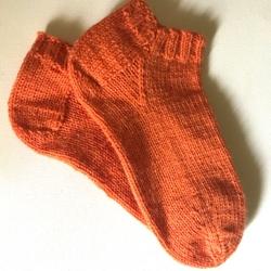 Solid Orange Ankle Sock