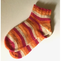 Orange Stripe Ankle Sock