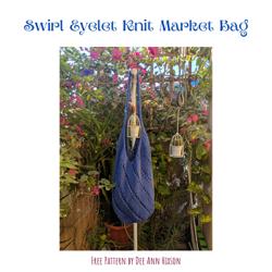 Swirl Eyelet Knit Bag